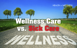 Wellness Care vs. Sick Care Graphic